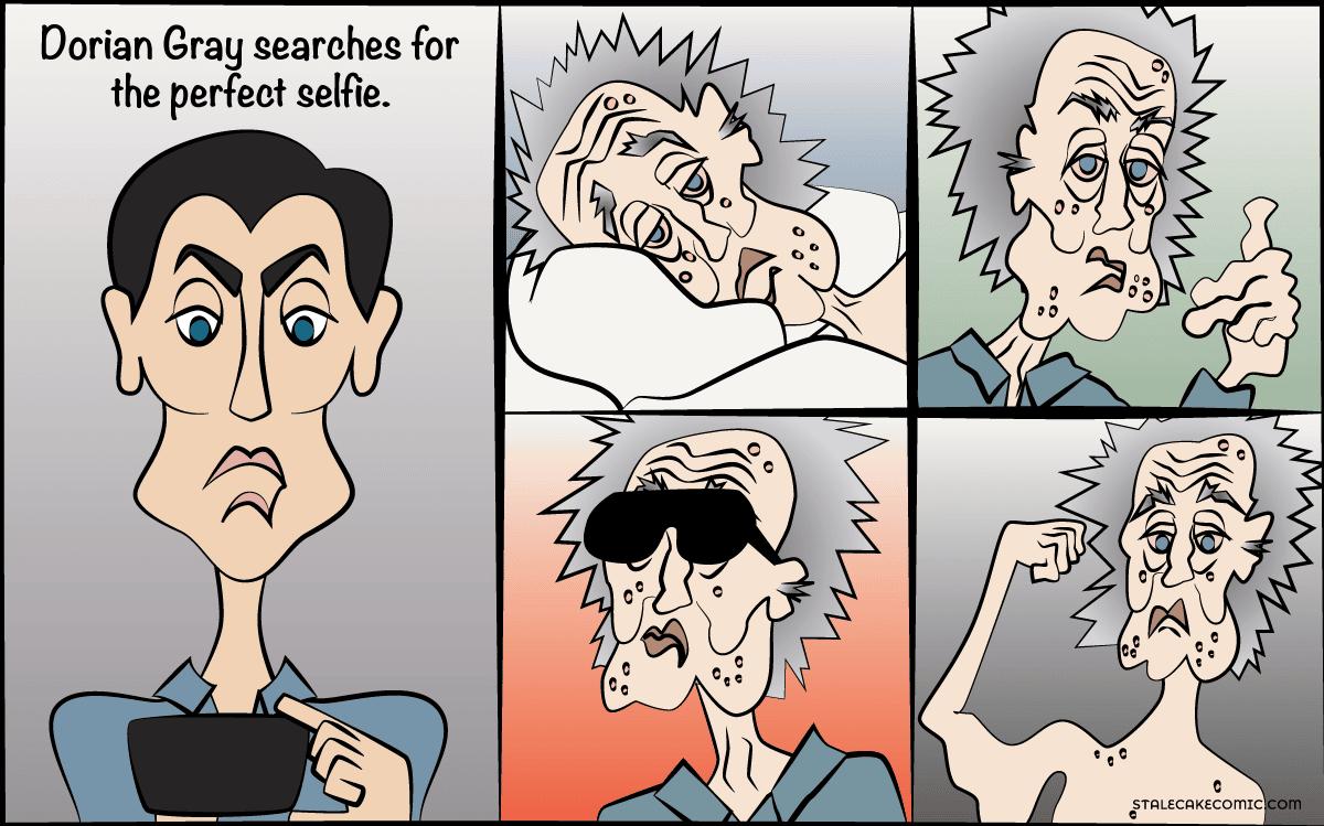 Selfie of Dorian Gray - Stale Cake Comics