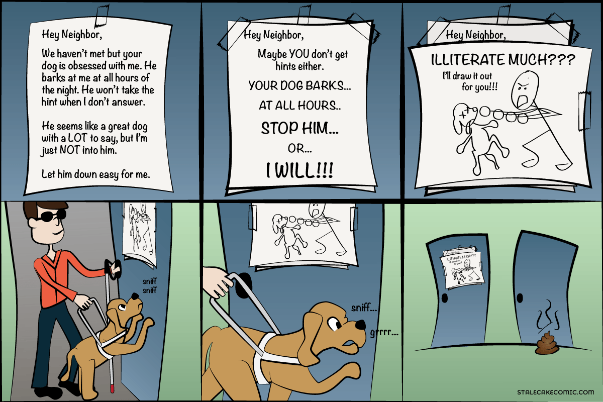 Who Let the Dogs Out - Stale Cake Comics